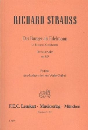 Richard Strauss - Der Bürger als Edelmann op. 60 - Partitur - Partition - di-arezzo.co.uk
