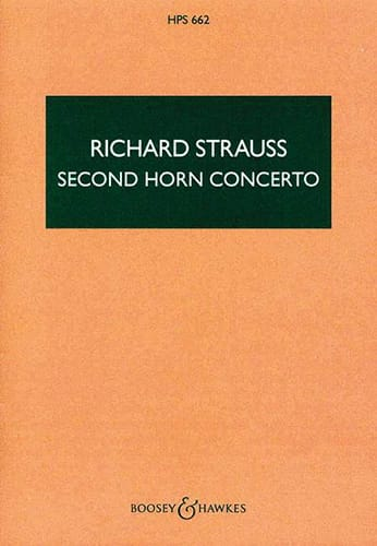 Richard Strauss - Second horn Concerto - Score - Partition - di-arezzo.co.uk