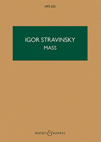 Igor Stravinsky - Mass - Score - Partition - di-arezzo.co.uk