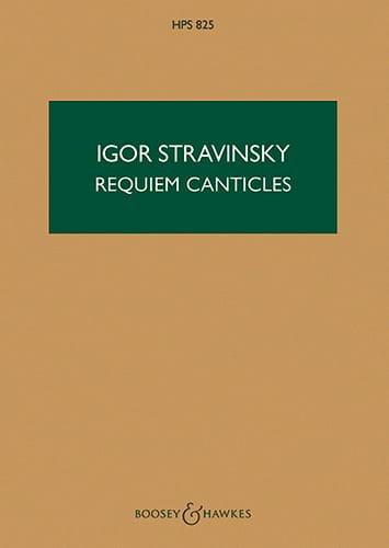 Requiem Canticles - Score - STRAVINSKY - Partition - laflutedepan.com