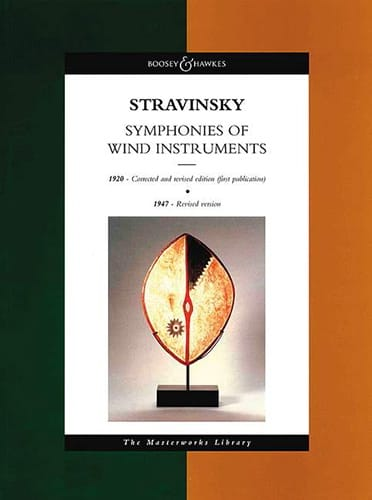 Igor Stravinsky - Symphony of wind instruments - Score - Partition - di-arezzo.co.uk