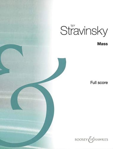 Mass - Partitur - STRAVINSKY - Partition - laflutedepan.com