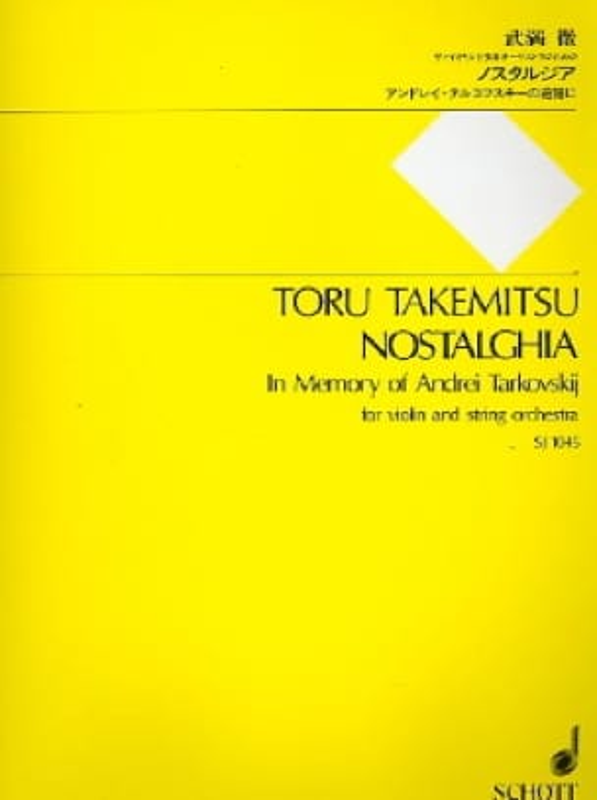 Toru Takemitsu - Nostalghia - Partitur - Partition - di-arezzo.fr