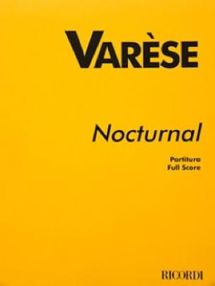 Nocturnal - Partitur - Edgard Varèse - Partition - laflutedepan.com