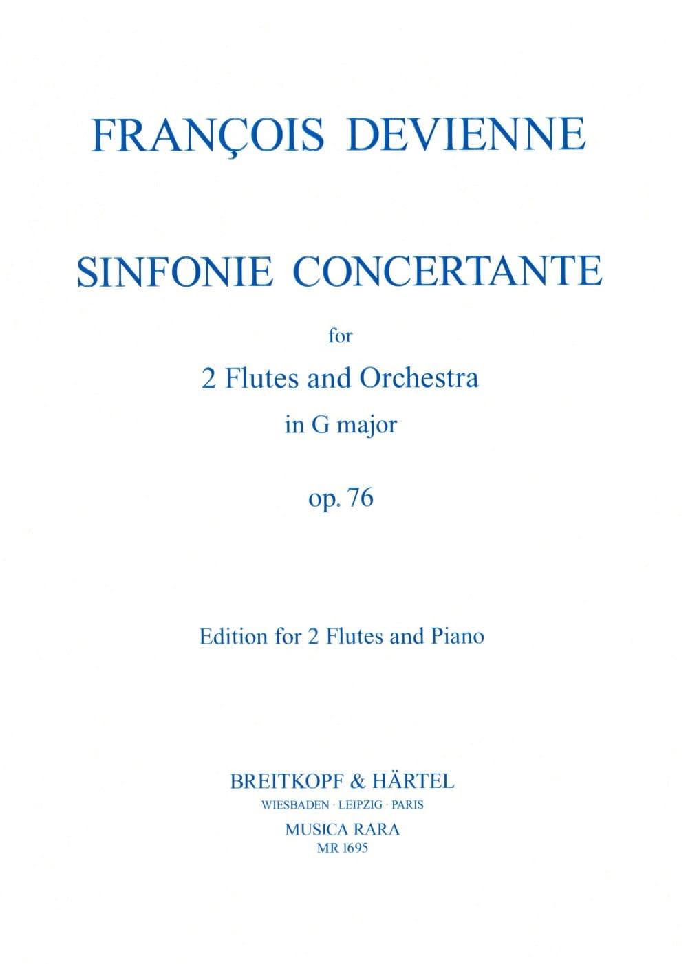 François Devienne - Concert Symphony op. 76 G major - 2 Flutes piano - Partition - di-arezzo.co.uk