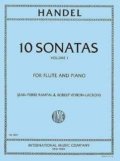 HAENDEL - 10 Sonatas - Volume 1 - Piano flute - Partition - di-arezzo.com