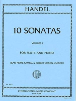 HAENDEL - 10 Sonatas - Volume 2 - Piano flute - Partition - di-arezzo.com