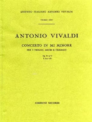 Concerto en mi min. - F. 1 n° 174 - Partitura - laflutedepan.com