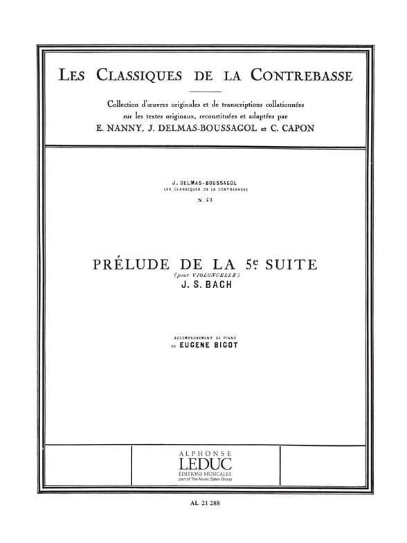 Prélude de la Suite n° 5 - laflutedepan.com