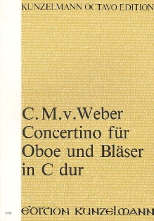 Carl Maria von Weber - Concertino for Oboe and Blaster in C-Dur - Partitur - Partition - di-arezzo.co.uk