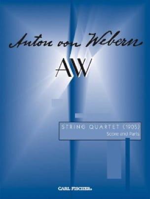 Anton Webern - String quartet 1905 - Score - Partition - di-arezzo.co.uk