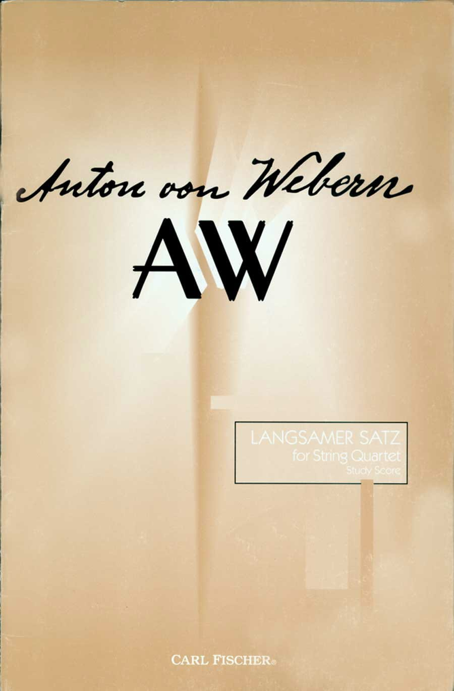 Anton Webern - Langsamer Satz for String Quartet - Score - Partition - di-arezzo.co.uk