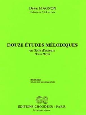 Denis Magnon - 12 Melodic studies - Middle - Student - Partition - di-arezzo.co.uk