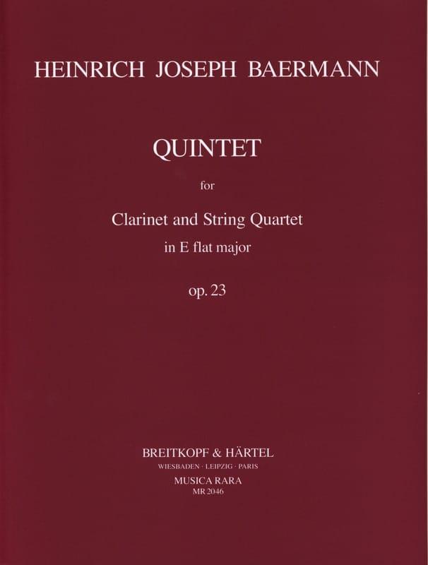 Quintet E flat major op. 23 -Clarinet String quartet - Parts - laflutedepan.com