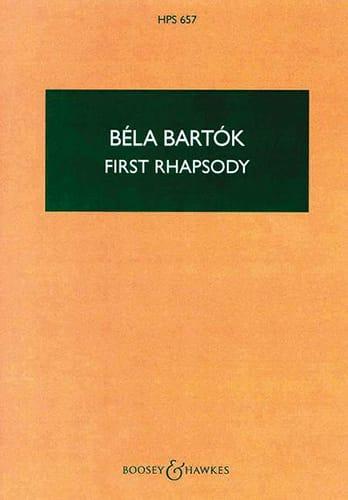 Rhapsody n° 1 for violin - Score - BARTOK - laflutedepan.com