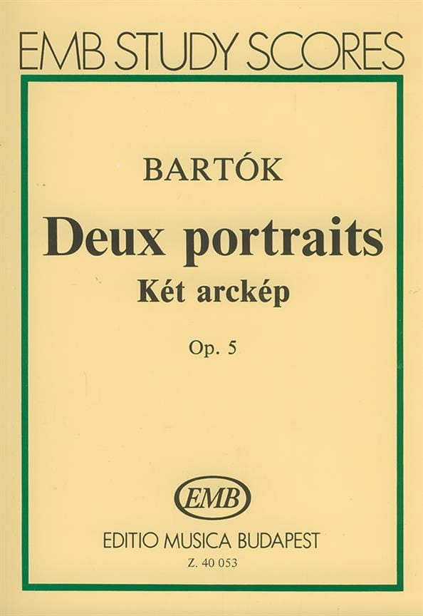 2 Portraits, Opus 5 - Conducteur - BARTOK - laflutedepan.com
