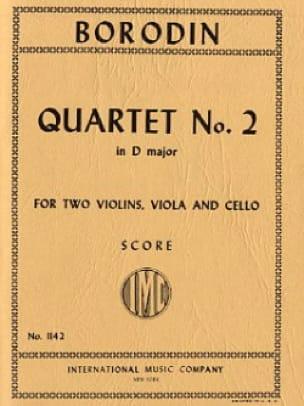 String Quartet n° 2 D major - Score - BORODINE - laflutedepan.com
