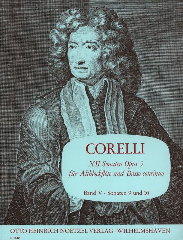 CORELLI - 12 Sonaten op. 5 - Bd. 5 - Altblockflöte u. Bc - Partition - di-arezzo.com