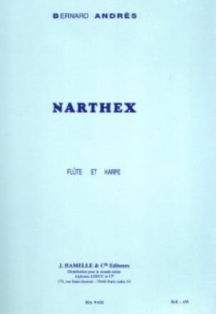 Narthex pour Flûte et Harpe - Bernard Andrès - laflutedepan.com