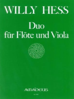 Duo für Flöte und Viola - Willy Hess - Partition - laflutedepan.com