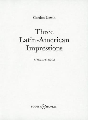 3 Latin-american impressions - Gordon Lewin - laflutedepan.com