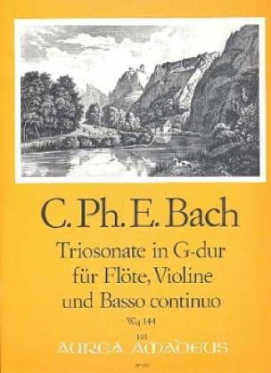 Triosonate G-Dur Wq 144 -Flöte Violine u. Bc - laflutedepan.com