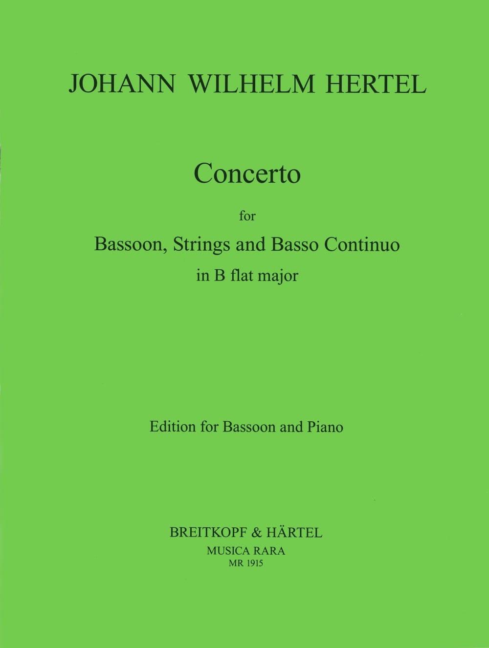 Concerto in B flat - Johann Wilhelm Hertel - laflutedepan.com