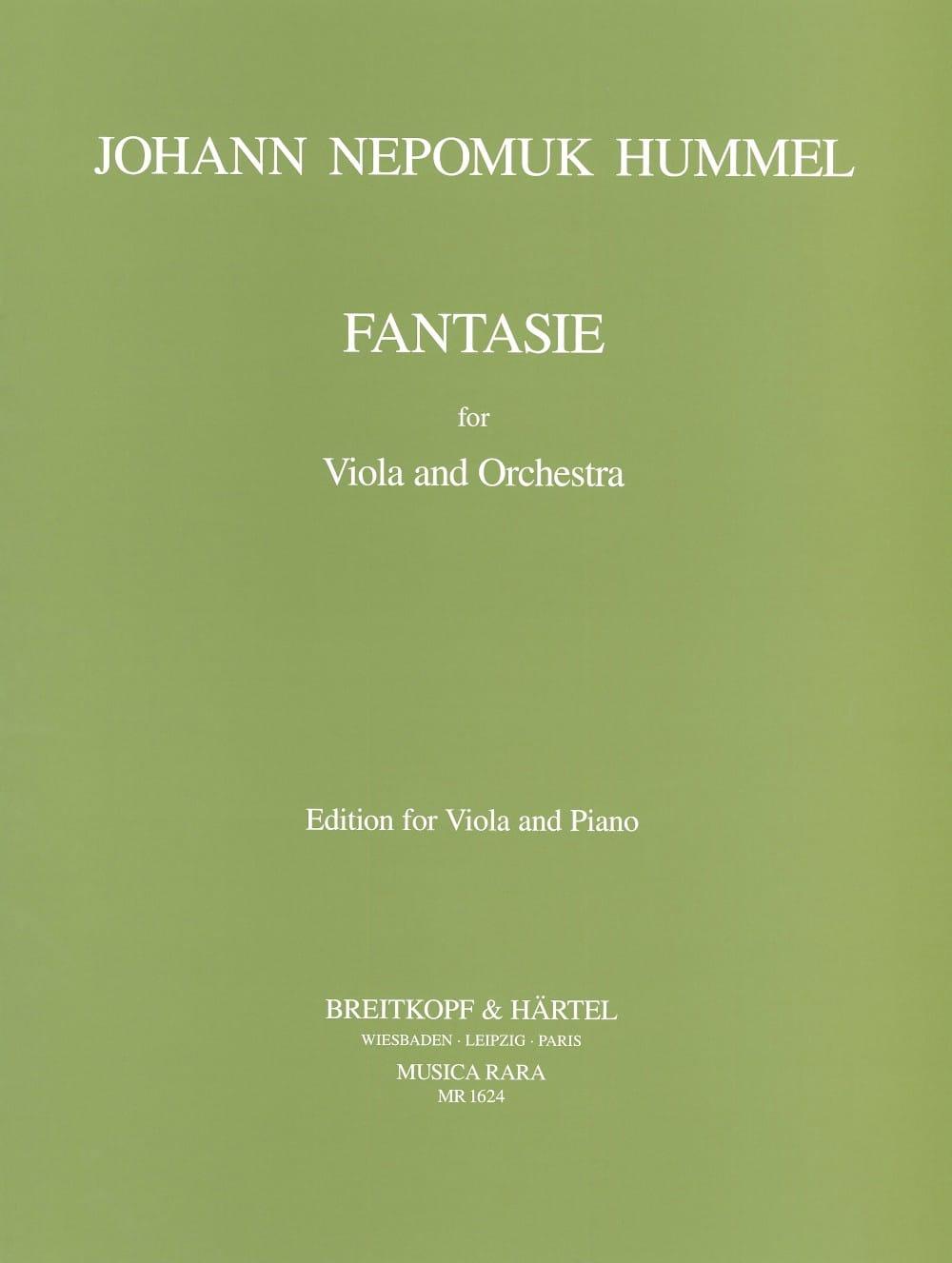 Fantasie - Viola - HUMMEL - Partition - Alto - laflutedepan.com