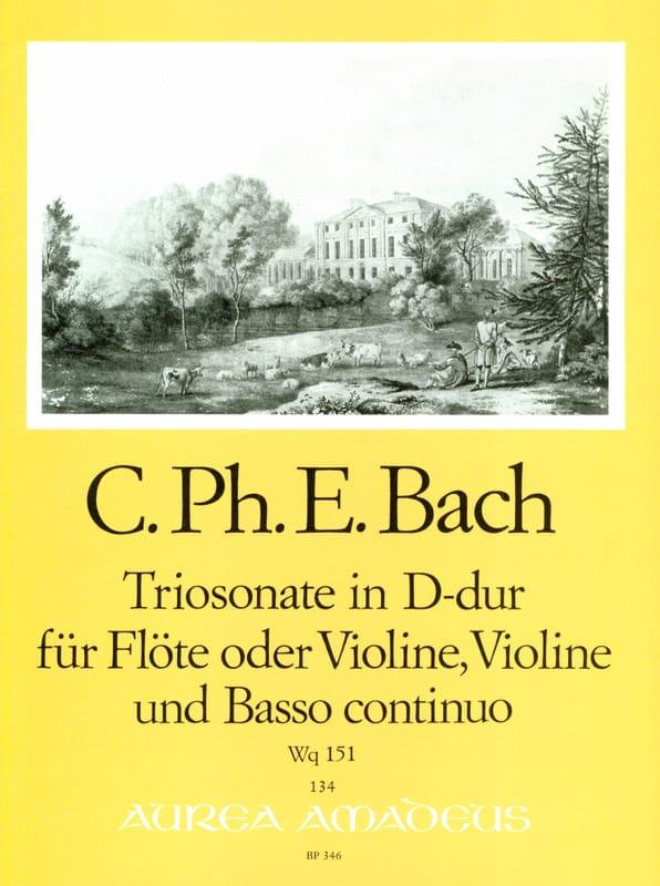 Triosonate D-Dur Wq 151 -Flöte o. Violine Violine u. Bc - laflutedepan.com