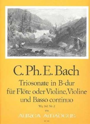 Triosonate B-Dur Wq 161 -Flöte Violine Bc - laflutedepan.com