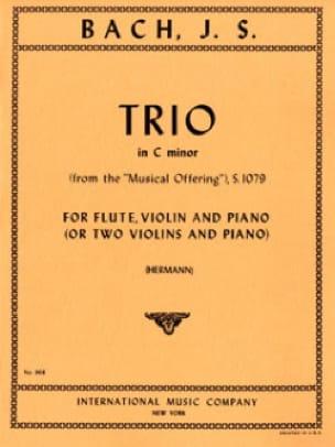 Triosonate C minor BWV 1079 - Flute violin piano - laflutedepan.com
