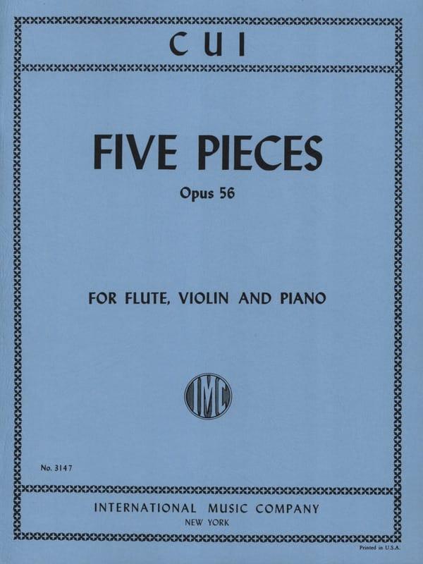 5 Pieces op. 56 - Flute, violin and piano - laflutedepan.com