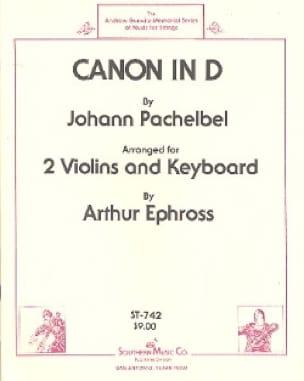 Canon in D - 2 Violins piano - PACHELBEL - laflutedepan.com