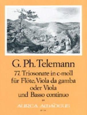 TELEMANN - Triosonate Nr. 77 c-moll - flute Viola da gamba u. Bc - Partition - di-arezzo.com