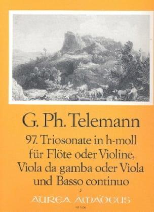 TELEMANN - Triosonate Nr. 97 h-moll - Viola Flute Viola da gamba Viola u. Bc - Partition - di-arezzo.com