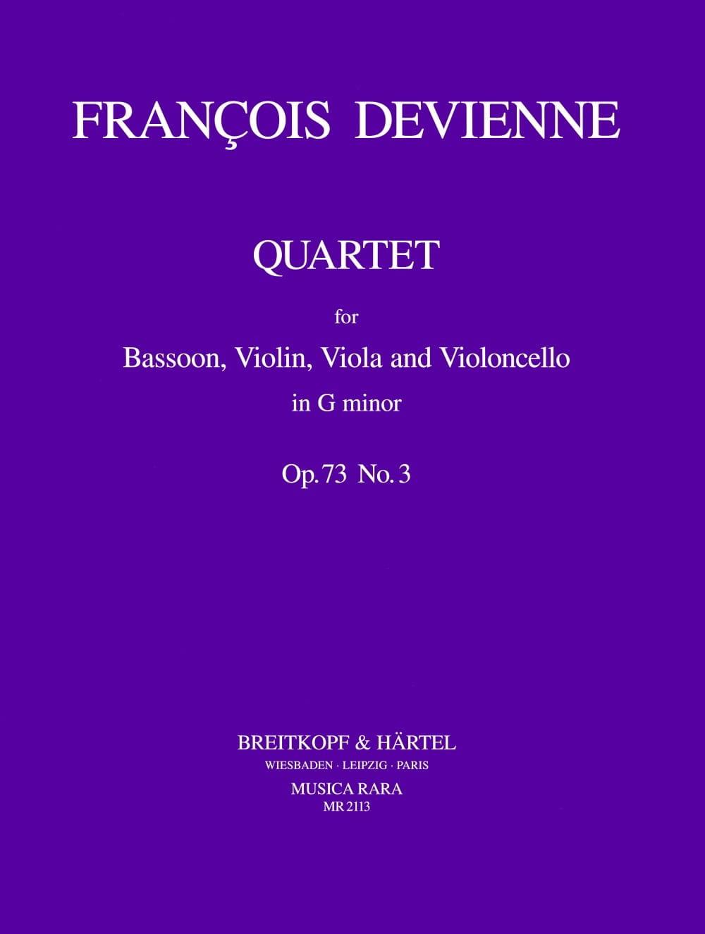 Quartet G minor op. 73 n° 3 -Bassoon violin viola cello - laflutedepan.com