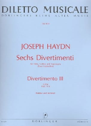 HAYDN - 6 Divertimenti, Divertimento Nr. 3 C-Dur - driver and parts. - Partition - di-arezzo.com