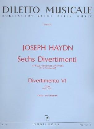 HAYDN - 6 Divertimenti, Divertimento Nr. 6 D-Dur - driver and parts. - Partition - di-arezzo.com
