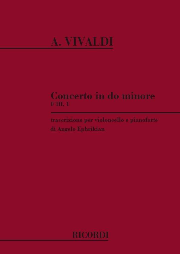 VIVALDI - Concerto en do min. - F. 3 n° 1 - Violoncelle/Piano - Partition - di-arezzo.fr
