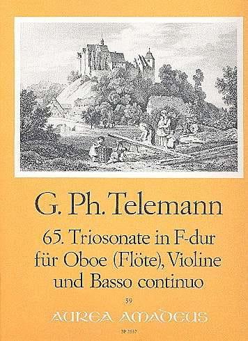 Triosonate Nr. 65 in F-Dur -Oboe Violine Bc - laflutedepan.com
