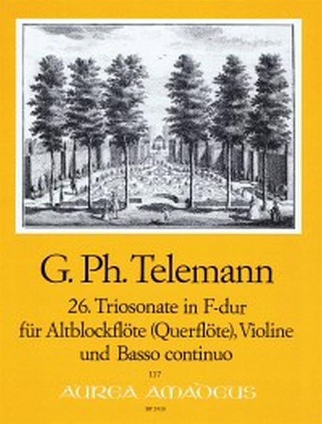 TELEMANN - Triosonate Nr. 26 in F-Dur - Altblockflöte Violine Bc - Partition - di-arezzo.com