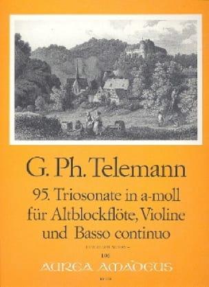 TELEMANN - Triosonate Nr. 95 in a-moll - Altblockflöte Violine BC - Partition - di-arezzo.com