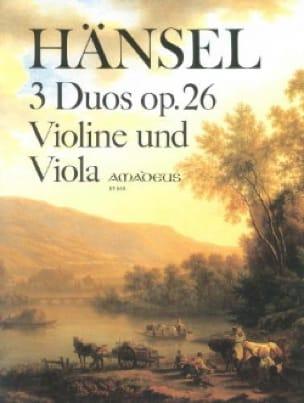 3 Duos op. 26 für Violine und Viola - Peter Hänsel - laflutedepan.com