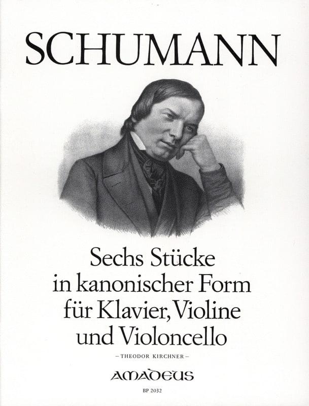 6 Stücke in kanonischer Form - SCHUMANN - Partition - laflutedepan.com
