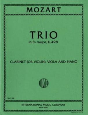 MOZART - Trio in Eb major KV 498 - violin clarinet viola piano - Partition - di-arezzo.co.uk