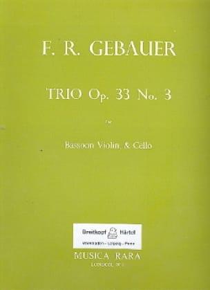 Trio op. 33 n° 3 -Bassoon Violin Cello - Score + Parts - laflutedepan.com
