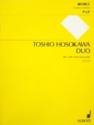 Duo - Toshio Hosokawa - Partition - 0 - laflutedepan.com