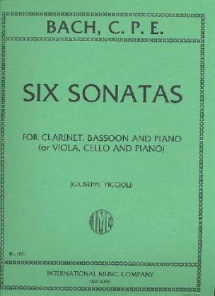6 Sonatas -Clarinet bassoon piano - laflutedepan.com