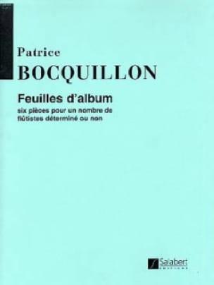 Patrice Bocquillon - Album sheets - 3 flutes or set - Partition - di-arezzo.co.uk