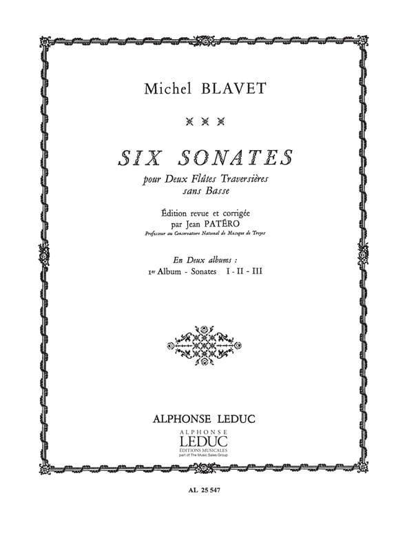 6 Sonates - Volume 1 - 2 Flûtes - Michel Blavet - laflutedepan.com